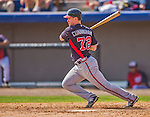 11 March 2013: Atlanta Braves outfielder Todd Cunningham in action during a Spring Training game against the Washington Nationals at Space Coast Stadium in Viera, Florida. The Braves defeated the Nationals 7-2 in Grapefruit League play. Mandatory Credit: Ed Wolfstein Photo *** RAW (NEF) Image File Available ***