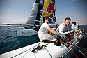 8th October  2010. Almeria. Spain..Pictures of the Oman Sail Masirah EX40 in action during the press day.Skippered by Loick Peyron, with Pete Cummings, Mark Bulkeley and  David Carr