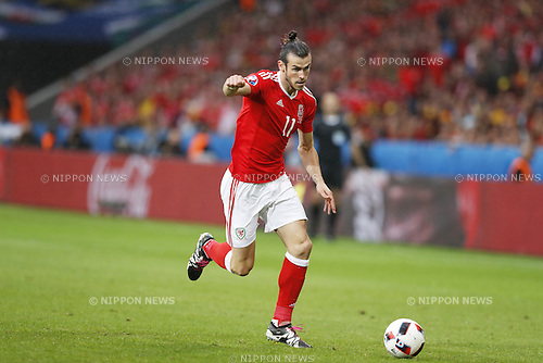 Gareth Bale (WAL), JULY 1, 2016 - Football / Soccer : UEFA EURO 2016 Quarter-finals match between Wales 3-1 Belgium at the Stade Pierre Mauroy in Lille Metropole, France. (Photo by Mutsu Kawamori/AFLO) [3604]