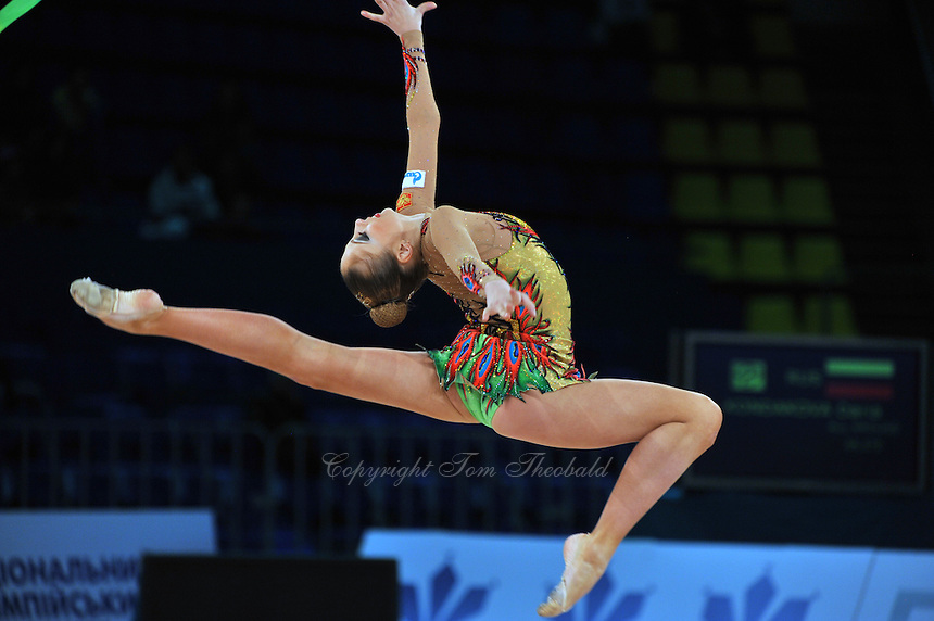"DARIA KONDAKOVA of Russia performs on way to All Around win at 2011 World Cup Kiev, ""Deriugina Cup"" in Kiev, Ukraine on May 7, 2011."