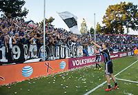Santa Clara, Ca - Sunday, October 21, 2012: The  San Jose Earthquakes tied the LA Galaxy 2-2 at Buck Shaw Stadium.