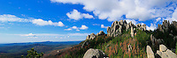 Panorama, Harney Peak, Custer State Park, Black Hills, South Dakota, USA