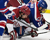 Luke Greiner (Harvard - 26), Stephen Buco (UML - 11) - The visiting University of Massachusetts Lowell River Hawks defeated the Harvard University Crimson 5-0 on Monday, December 10, 2012, at Bright Hockey Center in Cambridge, Massachusetts.