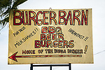 Home-made sign for the Burger Barn, New Cuyama, San Luis Obispo County, Calif.