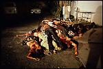 Death squad victim, civil war, San Salvador, El Salvador, January 1981.