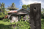 Photo shows an old-style Japanese house built during Japan's occupation of Saipan..Robert Gilhooly Photo