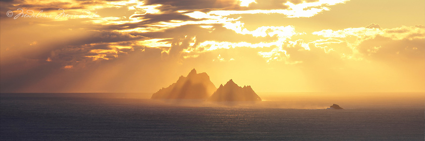 Golden Skellig Sunset, County Kerry, Ireland