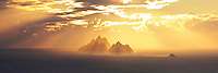 Golden Skellig Sunset, County Kerry, Ireland