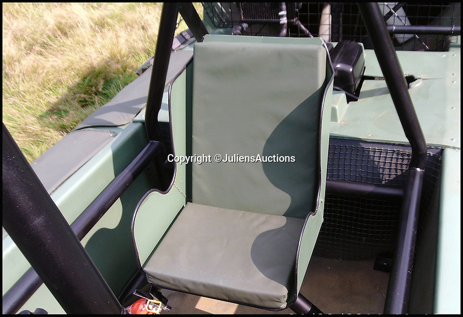 BNPS.co.uk (01202 558833)<br /> Pic: JuliensAuctions/BNPS<br /> <br /> ***Please Use Full Byline***<br /> <br /> The 'passenger seat' of the hovercraft that features in the James Bond film, Die Another Day. <br /> <br /> Est: &pound;30,000<br /> <br /> The iconic micro-jet flown by Roger Moore in Octopussy and the swivel chair used by super-villain Blofeld are among a host of props from James Bond movies coming up for sale.<br /> <br /> The 12ft long BD-5J red, white and blue aircraft, that is the world's lightest jet, was piloted by 007 in the opening scenes of Octopussy, outwitting his Cuban captors.<br /> <br /> The aircraft was actually built seven years before the film as part of an air display team and was hired for the 1983 Bond flick.