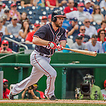 11 September 2016: Washington Nationals infielder Daniel Murphy in action against the Philadelphia Phillies at Nationals Park in Washington, DC. The Nationals edged out the Phillies 3-2 to take the rubber match of their 3-game series. Mandatory Credit: Ed Wolfstein Photo *** RAW (NEF) Image File Available ***