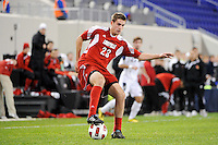 J.T. Murray (23) of the Louisville Cardinals. The Louisville Cardinals defeated the Notre Dame Fighting Irish 1-0 during the semi-finals of the Big East Men's Soccer Championship at Red Bull Arena in Harrison, NJ, on November 12, 2010.