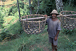 Farmer with Baskets, Bali