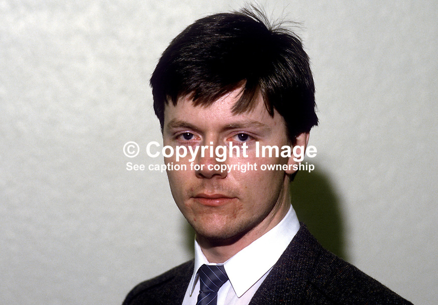 Dan Keenan, press officer, SDLP, Social Democratic & Labour Party, N Ireland, 19851203DK..Copyright Image from Victor Patterson, 54 Dorchester Park, Belfast, United Kingdom, UK...For my Terms and Conditions of Use go to http://www.victorpatterson.com/Victor_Patterson/Terms_%26_Conditions.html