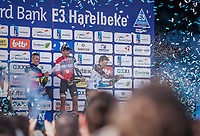 Belgian Podium:<br /> <br /> 1st place Greg Van Avermaet (BEL/BMC)<br /> 2nd place Philippe Gilbert (BEL/Quick Step Floors)<br /> 3th place Oliver Naesen (BEL/AG2R-LaMondiale)<br /> <br /> E3 Harelbeke 2017