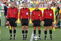 L-R Jason Francois,Jennifer Bennett, Felisha Mariscal, Debbie Coleman...USWNT tied Sweden 1-1 at Morrison Stadium, Omaha Nebraska.