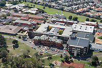 Aerial view of Kingston Centre hospital site.<br /> <br /> Larger JPEG + TIFF images available by contacting use through our contact page at :..www.photography4business.com