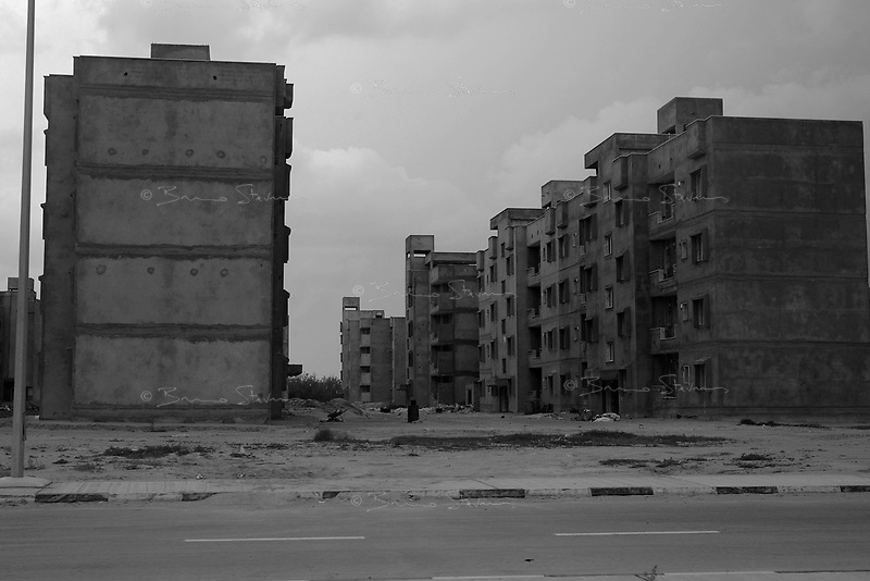 Tripoli, Libya, March 30, 2011..Thousands of appartments are being built all over the country since a few years; part of the Khaddafi regime failed attempts at keeping the opposition silent..