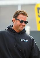 May 15, 2016; Commerce, GA, USA; NHRA pro stock driver Shane Gray during the Southern Nationals at Atlanta Dragway. Mandatory Credit: Mark J. Rebilas-USA TODAY Sports