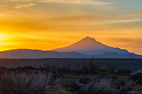 Second tallest of Oregon's stratovolcanoes, and one of the youngest (less than 100,00 years old) this remote mountain in Central Oregon is absolutely beautiful during sunset when viewed from the high desert plateau from the east!