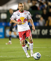 Joel Lindpere of Red Bulls in action during the game against Earthquakes at Buck Shaw Stadium in Santa Clara, California.  San Jose Earthquakes defeated New York Red Bulls, 4-0.