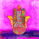 The protective Hand of Fatima  also known as Hamsa.
