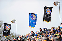 A general view of  Bath Rugby flags in the East Stand. Aviva Premiership match, between Bath Rugby and Wasps on March 4, 2017 at the Recreation Ground in Bath, England. Photo by: Patrick Khachfe / Onside Images
