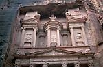 Jordan, Petra. The facade of the Treasury (Al Khazneh)&amp;#xA;<br />