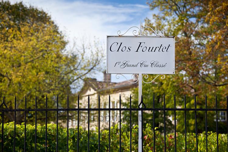 Chateau Clos Fourtet, 1er Grand Cru Classe, at St Emilion in the Bordeaux region of France