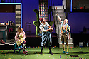 Dundee, UK. 23.11.2016. Dundee Rep Ensemble presents GEORGE'S MARVELLOUS MEDICINE, adapted from Roald Dahl's book by Stuart Paterson, and directed by Associate Artistic Director, Joe Douglas. With design by Ana Ines Jabares-Pita and lighting design by Mark Doubleday. The cast is: Laurie Scott (George Killy-Kranky), Ann Louise Ross (Grandma), Emily Winter (Mary Killy-Kranky), Irene Macdougall (Giant Chicken) and Ewan Donald (Johnny Killy-Kranky). Photograph © Jane Hobson.2015. Photograph © Jane Hobson.