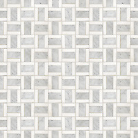 Promenade, a hand-cut stone mosaic, shown in polished Carrara and Thassos.