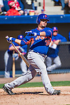 13 March 2014: New York Mets catcher Juan Centeno in action during a Spring Training game against the Washington Nationals at Space Coast Stadium in Viera, Florida. The Mets defeated the Nationals 7-5 in Grapefruit League play. Mandatory Credit: Ed Wolfstein Photo *** RAW (NEF) Image File Available ***