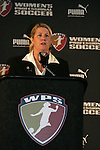 16 January 2009: WPS Chief Operating Officer Mary Harvey. The 2009 inaugural Womens Pro Soccer (WPS) Draft was held at the Convention Center in St. Louis, Missouri in conjuction with the National Soccer Coaches Association of America's annual convention.