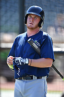 First baseman Dash Winningham (34) of the Columbia Fireflies during the team's first workout of the season on Sunday, April 2, 2017, at Spirit Communications Park in Columbia, South Carolina. (Tom Priddy/Four Seam Images)