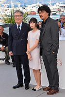 Byung Heebong, Ahn Seo-Hyun &amp; Bong Joon-Ho at the photocall for &quot;Okja&quot; at the 70th Festival de Cannes, Cannes, France. 19 May 2017<br /> Picture: Paul Smith/Featureflash/SilverHub 0208 004 5359 sales@silverhubmedia.com