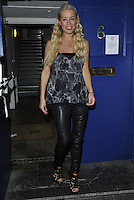 """SEP 10 Denise Van Outen leaving stage door after """"Some Girl I Used To Know"""" performance"""