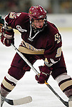 "19 January 2007: Boston College forward Nathan Gerbe from Oxford, MI, prepares for a faceoff during a Hockey East matchup against the University of Vermont at Gutterson Fieldhouse in Burlington, Vermont. The UVM Catamounts defeated the BC Eagles 3-2 before a record setting 50th consecutive sellout at ""the Gut""...Mandatory Photo Credit: Ed Wolfstein Photo."
