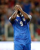 Fussball International  WM Qualifikation 2014   10.09.2013 Italien - Tschechien Mario Balotelli (Italien) nachdenklich