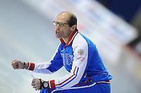 SPEED SKATING: CALGARY: Olympic Oval, 08-03-2015, ISU World Championships Allround, Coach Rusland Kosta Poltavets, ©foto Martin de Jong