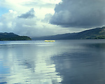 Crannog, Loch Awe, Nr Ford Argyle and Bute, Scotland . Celtic Britain published by Orion. Small circular island were once fortified homes of lake dwelling Iron Age families