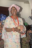 Vero con le altre donne dell'associazione &quot;Ragazze di Benin city&quot; contro la tratta di esseri umani durante un'esibizione nel centro Arcobaleno.<br /> Vero together to the other women of the association &quot;Ragazze di Benin city&quot; against human trafficking during an exhibition in the center Arcobaleno.