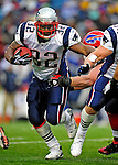 28 December 2008: New England Patriots' running back LaMont Jordan rushes for yardage in the fourth quarter against the Buffalo Bills at Ralph Wilson Stadium in Orchard Park, NY. The Patriots kept their playoff hopes alive defeating the Bills 13-0 in their 16th win against Buffalo of their past 17 meetings. ***** Editorial Use Only ******..Mandatory Photo Credit: Ed Wolfstein Photo