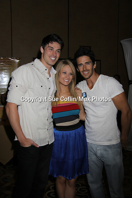 The Bold and The Beautiful Brandon Beemer & Kim Matula & Adam Gregory in the gifting suite at the 38th Annual Daytime Entertainment Emmy Awards 2011 held on June 19, 2011 at the Las Vegas Hilton, Las Vegas, Nevada. (Photo by Sue Coflin/Max Photos)