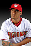 25 February 2007: Washington Nationals second baseman Felipe Lopez poses for his Photo Day portrait at Space Coast Stadium in Viera, Florida.<br /> <br /> Mandatory Photo Credit: Ed Wolfstein Photo<br /> <br /> Note: This image is available in a RAW (NEF) File Format - contact Photographer.
