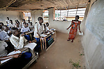 A class in a school sponsored by the United Methodist Church in the village of Wembo Nyama, DR Congo.