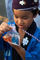Japanese festivals are traditional festive occasions. Some festivals have their roots in Chinese festivals but have undergone dramatic changes as they mixed with local customs.  Matsuri is the Japanese word for a festival or holiday. In Japan, festivals are usually sponsored by a local shrine or temple, though they can be secular..There is no specific matsuri days for all of Japan; dates vary from area to area, and even within a specific area, but festival days do tend to cluster around traditional holidays such as Setsubun or Obon. Almost every locale has at least one matsuri in late summer or autumn, usually related to the harvests. Matsuri almost always feature processions which include elaborate floats and &quot;mikoshi&quot; or portable shrines which are paraded around the neighborhood.