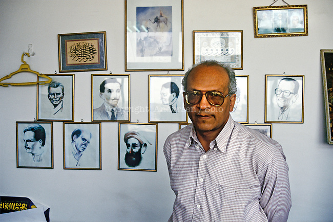 Gamal Ghitany, Egyptian writer and journalist in his office in Cairp.