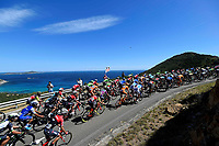 ITALIA. 07-05-2017. Aspecto de la etapa 3 entre Tortoli' a Cagliari con 148 kms de la versi&oacute;n 100 del Giro de Italia hoy 07 de mayo de 2017. / Aspect of the stage 3 between Tortoli 'to Cagliari with 148 kms of the 100 version of the Giro d'Italia today 07 May 2017 Photo: VizzorImage/ Fabio Ferrari / LaPresse<br /> VizzorImage PROVIDES THE ACCESS TO THIS PHOTOGRAPH ONLY AS A PRESS AND EDITORIAL SERVICE AND NOT IS THE OWNER OF COPYRIGHT; ANOTHER USE HAVE ADDITIONAL PERMITS AND IS  REPONSABILITY OF THE END USER