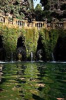 World Heritage listed Villa D' Este, Tivolo, near Rome, Italy