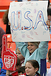 10 May 2008: United States fans. The United States Women's National Team defeated the Canada Women's National Team 6-0 at RFK Stadium in Washington, DC in a women's international friendly soccer match.
