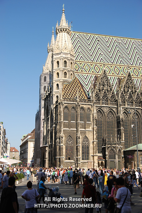 Stephansdom cathedral on stephansplatz in Vienna